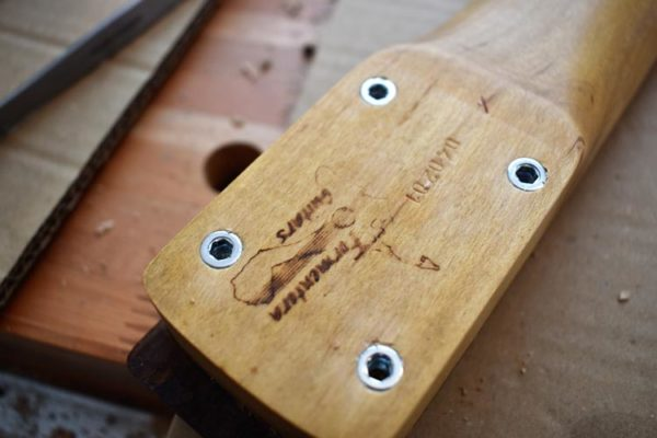 Threaded Inserts mounted into Tele Neck